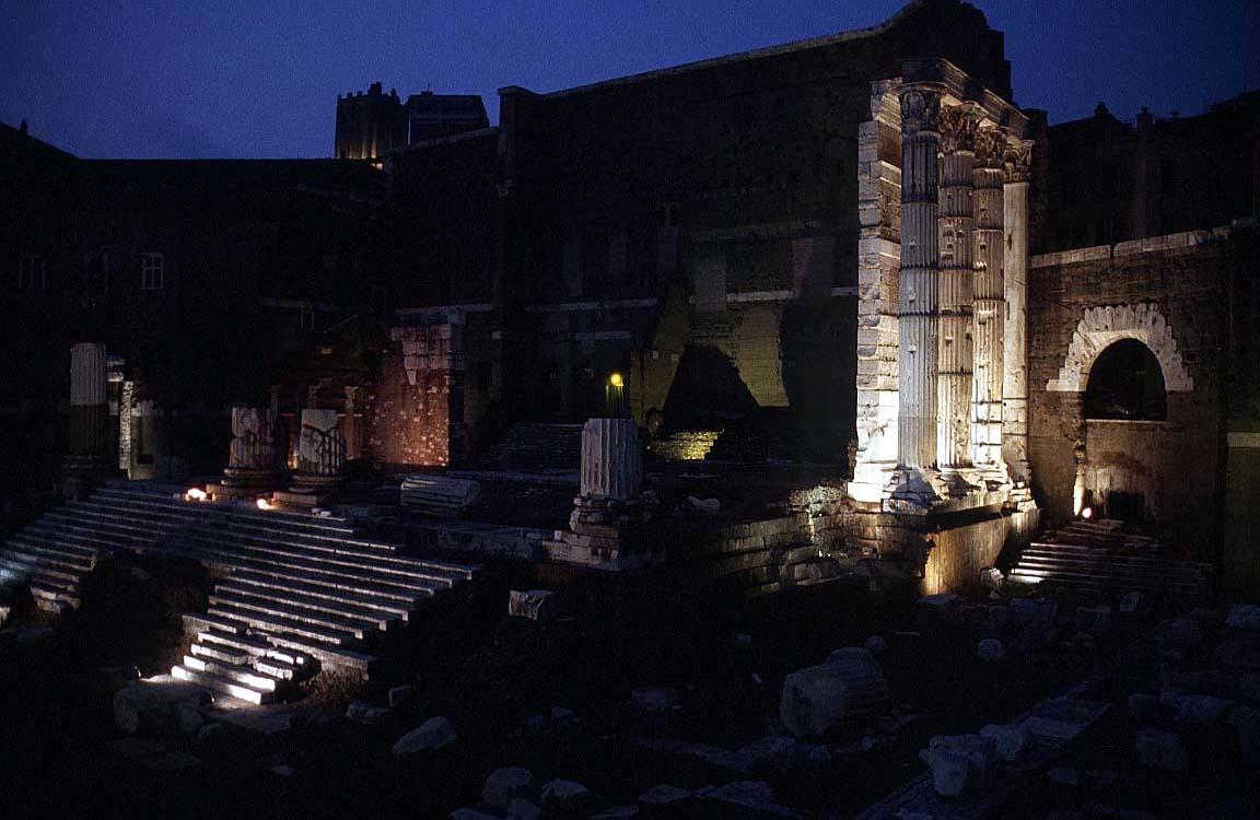 روما - ROME Forum-augustus-night
